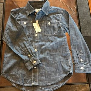 💙Childrens Place Button Up NWT💙